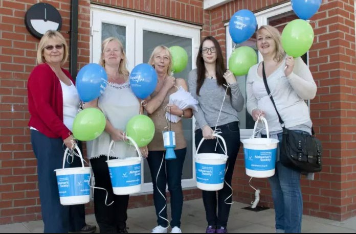 Staff raised £822 for the Alzheimer's Society
